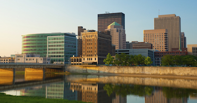 Dayton skyline at dawn